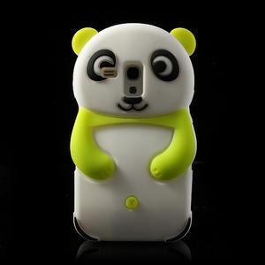 3D Silikonové puzdro pre Samsung Galaxy S3 mini / i8190 - vzor zelená panda - 1