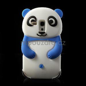 3D Silikonové puzdro pre Samsung Galaxy S3 mini / i8190 - vzor modrá panda - 1