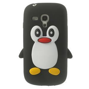 Silikonový TUČŃÁK puzdro na Samsung Galaxy S3 mini i8190- čierny - 1