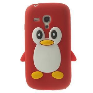 Silikonový TUČŃÁK puzdro na Samsung Galaxy S3 mini i8190- červený - 1
