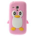 Silikonový tučniak puzdro pre Samsung Galaxy S3 mini i8190- svetloružový - 1/7