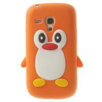 Silikonový TUČŃÁK puzdro na Samsung Galaxy S3 mini i8190- oranžový - 1/7