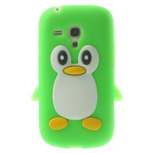 Silikonový TUČŃÁK puzdro na Samsung Galaxy S3 mini i8190- zelený - 1