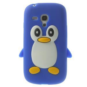 Silikonový tučniak puzdro pre Samsung Galaxy S3 mini i8190- modrý - 1