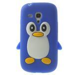 Silikonový tučniak puzdro pre Samsung Galaxy S3 mini i8190- modrý - 1/7