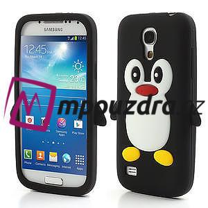Silikon 3D TUČŇÁK pro Samsung Galaxy S4 mini i9190- čierný - 1