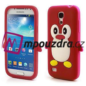 Silikon 3D TUČŇÁK pro Samsung Galaxy S4 mini i9190- červený - 1