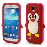 Silikon 3D TUČŇÁK pro Samsung Galaxy S4 mini i9190- červený - 1/5