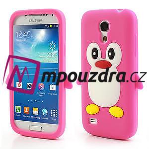 Silikon 3D TUČŇÁK pro Samsung Galaxy S4 mini i9190- růžový - 1