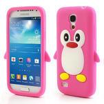 Silikon 3D TUČŇÁK pro Samsung Galaxy S4 mini i9190- růžový - 1/5
