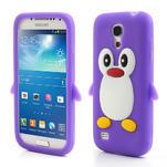 Silikon 3D TUČŇÁK pro Samsung Galaxy S4 mini i9190- fialový - 1/4