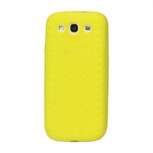 Silikonové PNEU pozdro pro Samsung Galaxy S3 i9300 - žluté - 1