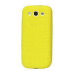 Silikonové PNEU pozdro pro Samsung Galaxy S3 i9300 - žluté - 1/2
