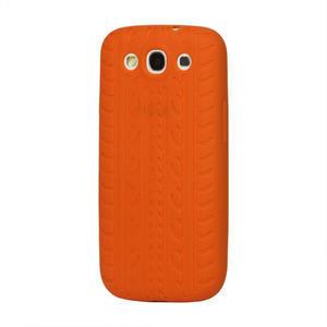 Silikonové PNEU pozdro pre Samsung Galaxy S3 i9300 - oranžové - 1