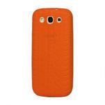 Silikonové PNEU pozdro pre Samsung Galaxy S3 i9300 - oranžové - 1/2
