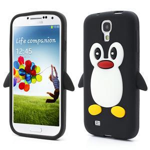 Silikonový Tučňák pouzdro pro Samsung Galaxy S4 i9500- černý - 1