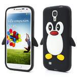 Silikonový Tučniak puzdro pro Samsung Galaxy S4 i9500- čierný - 1/3