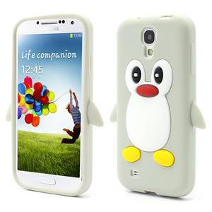 Silikonový Tučňák pouzdro pro Samsung Galaxy S4 i9500- šedý - 1