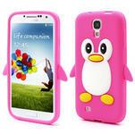 Silikonový Tučniak puzdro pro Samsung Galaxy S4 i9500- ružový - 1/5