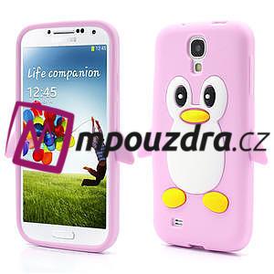 Silikonový Tučniak puzdro pro Samsung Galaxy S4 i9500- svetlo-ružový - 1