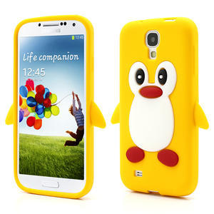 Silikonový Tučniak puzdro pro Samsung Galaxy S4 i9500- žltý - 1