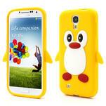 Silikonový Tučňák pouzdro pro Samsung Galaxy S4 i9500- žlutý - 1/7