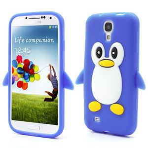 Silikonový Tučniak puzdro pro Samsung Galaxy S4 i9500- modrý - 1