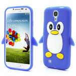 Silikonový Tučniak puzdro pro Samsung Galaxy S4 i9500- modrý - 1/6
