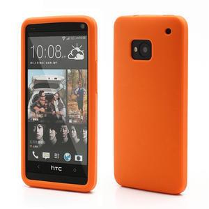 Silikonové puzdro pre HTC one M7- oranžové - 1