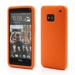 Silikonové puzdro pre HTC one M7- oranžové - 1/6