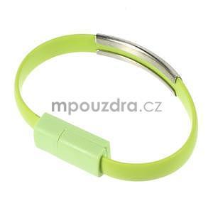 Multifunkční náramek micro USB, zelený - 1