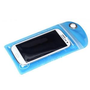 Nepromokavý a odolný obal na mobil do rozměrů 150 x 95 mm - modrý - 1