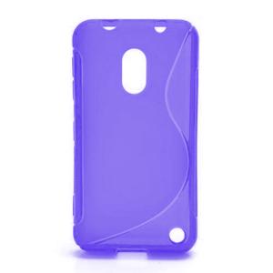 Gélové S-line puzdro na Nokia Lumia 620- fialové - 1