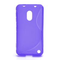 Gélové S-line puzdro na Nokia Lumia 620- fialové - 1/5
