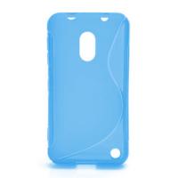 Gélové S-line puzdro na Nokia Lumia 620- modré - 1/5