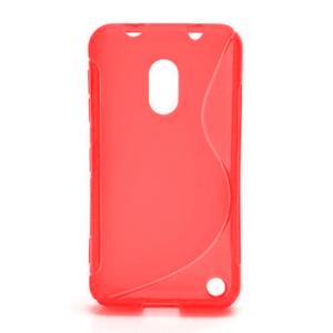 Gélové S-line puzdro na Nokia Lumia 620- červené - 1