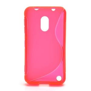 Gélové S-line puzdro na Nokia Lumia 620- ružové - 1
