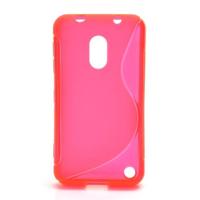 Gélové S-line puzdro na Nokia Lumia 620- růžové - 1/5