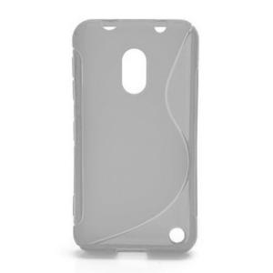 Gélové S-line puzdro na Nokia Lumia 620- transparentný - 1