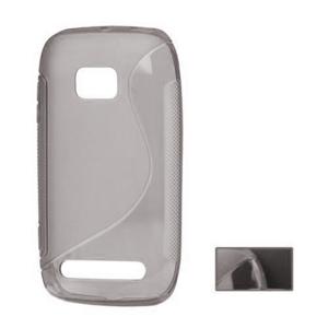 Gélové S-line puzdro pre Nokia Lumia 710- sivé