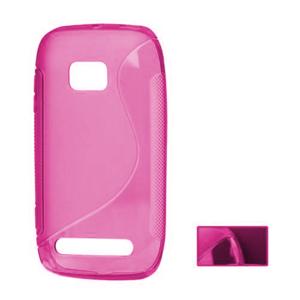 Gélové S-line puzdro pre Nokia Lumia 710- ružové