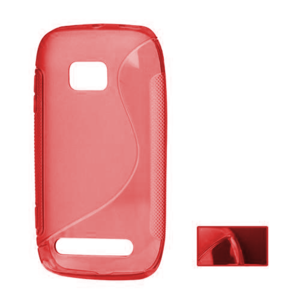 Gélové S-line puzdro pre Nokia Lumia 710- červené