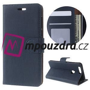 Clothy Peňaženkové puzdro pre mobil Honor 8 - tmavomodré - 1