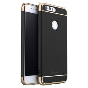 Luxusní odolný obal 3v1 na mobil Honor 8 - čierny - 1