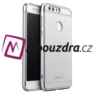 Luxusné odolný obal 3v1 pre mobil Honor 8 - strieborny - 1