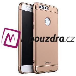 Luxusné odolný obal 3v1 pre mobil Honor 8 - zlatoružový - 1