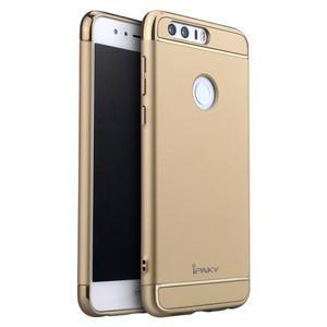 Luxusné odolný obal 3v1 pre mobil Honor 8 - zlatý - 1
