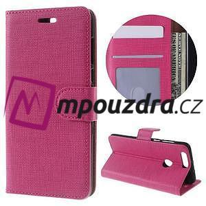 Clothy peněženkové puzdro na mobil Honor 8 - rose - 1