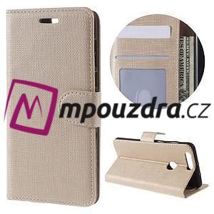 Clothy peněženkové puzdro na mobil Honor 8 - zlaté - 1