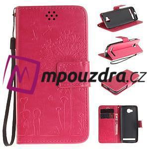 Dandelion PU kožené puzdro na mobil Huawei Y3 II - rose - 1